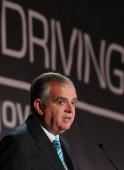 Transportation Secretary Ray LaHood speaks at the 2010 Distracted Driving Summit on September 21 2010 in Washington DC Secretary Hood said that new...