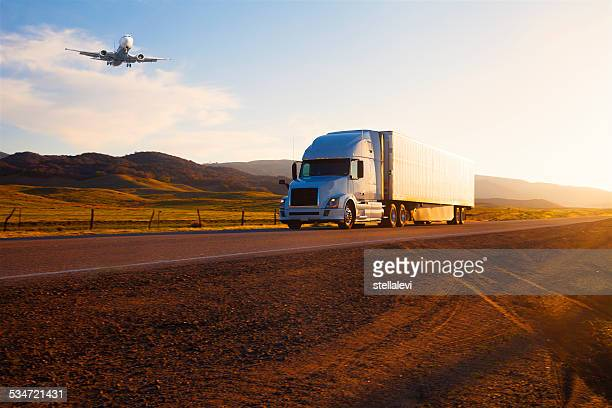 transportation: Truck  and airplane
