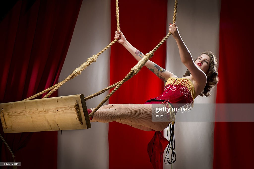 trapeze artist : Stock Photo