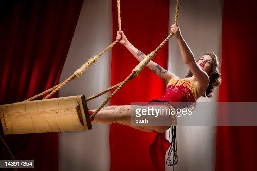 trapeze artist : Stock Photo