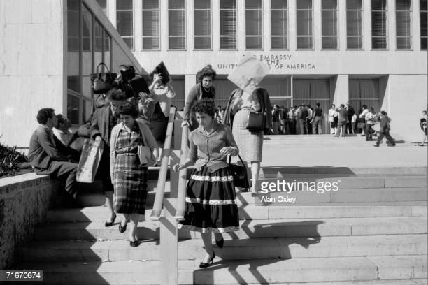 Trapped in Havana when the US breaks diplomatic relations with Cuba Americans and Cubans trying to leave seek help at the US Embassy 3rd January 1961...
