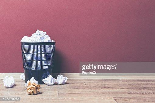 Trash basket : Stock Photo