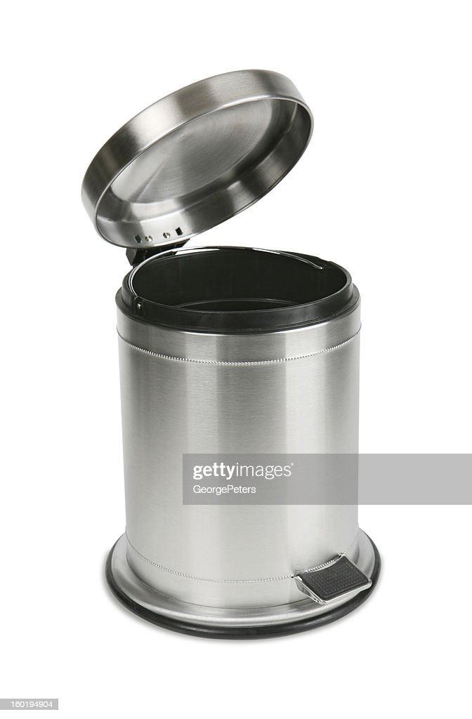 Trash Can with Clipping Path : Stock Photo