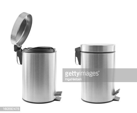 Trash cans isolated : Stock Photo