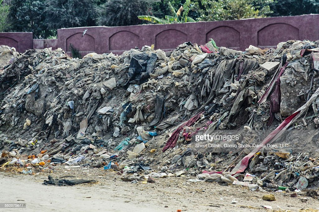 Trash pile in Cairo, Egypt : Stock Photo