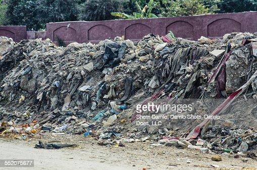 Trash pile in Cairo, Egypt