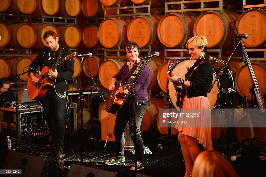 Trash Pop perform at the Chimney Rock Winery at Live In The Vineyard on November 2, 2012 in Napa, California.
