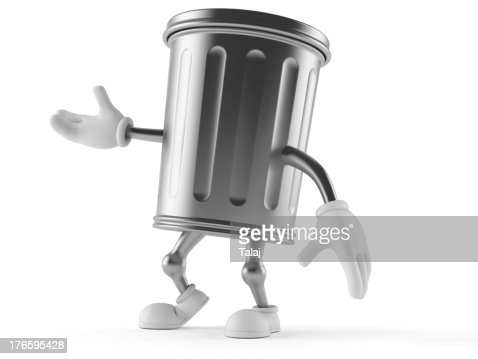 Trash toon : Stock Photo