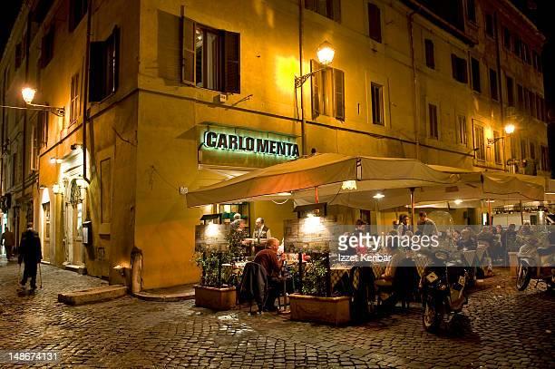 Trastevere at night.