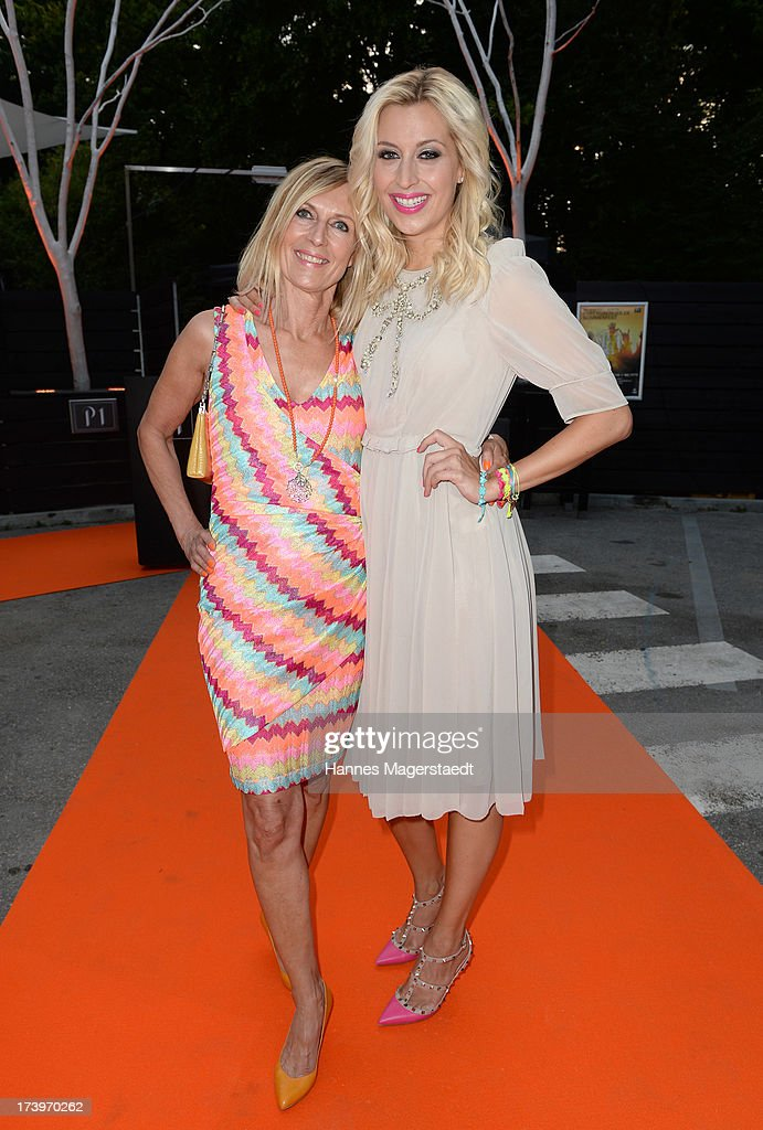 Traudl Kerth and her daughter Verena Kerth attend the Verena Kerth birthday party at P1 on July 18, 2013 in Munich, Germany. Kerth also celebrated the release of the new Playboy issue with her on the cover.