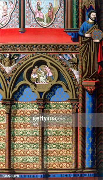 Travée de la SainteChapelle de Paris au XIIIè siècle France