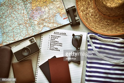 Travel accessories : Stock Photo