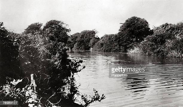 circa 1930's A view of the Dinder River