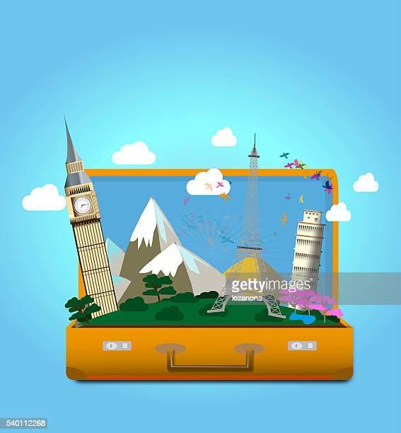 Voyage et explorer Illustration