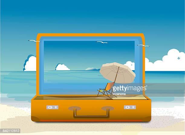 旅行と観光イラストレーション