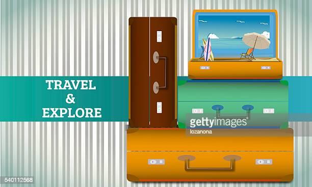 Viagens e explorar ilustrações