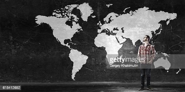 Travel around the world . Mixed media : Stock Photo