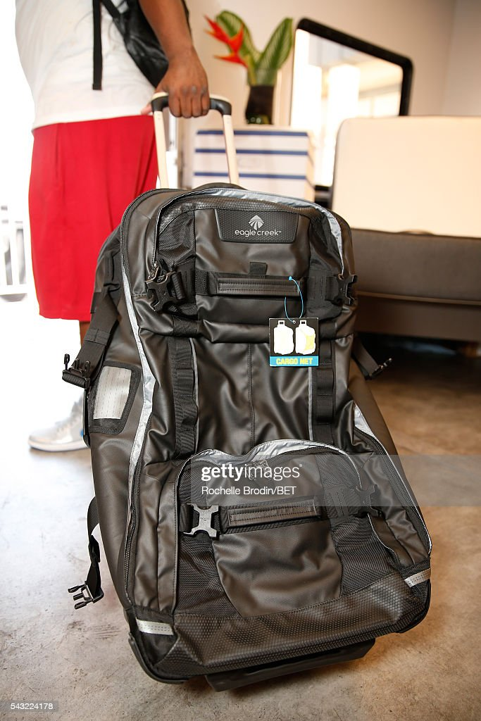 Travel bag is seen at the BETX gifting suite during the 2016 BET Experience on June 26, 2016 in Los Angeles, California.