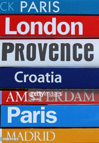 Travel books : Stock Photo