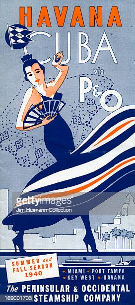 A travel brochure for Havana by The Peninsular Occidental Steamship Company reads ''Havana Cuba via P O Summer and Fall Season 1940' from 1940 in Cuba