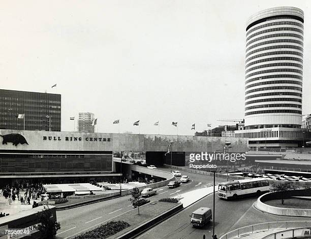circa 1960's The Bullring and Rotunda building in Birmingham city centre