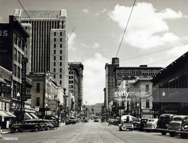 circa 1930 Birmingham Alabama showing 20th street at 4th avenue in the shopping and business district