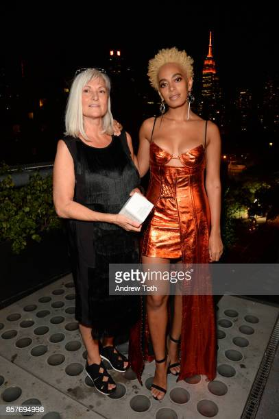 Travel Designer award winner Anda Andrei and Solange Knowles attend The 2017 Surface Travel Awards at Hotel Americano on October 4 2017 in New York...