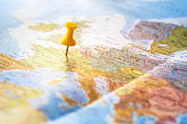 travel background, destination on the world map