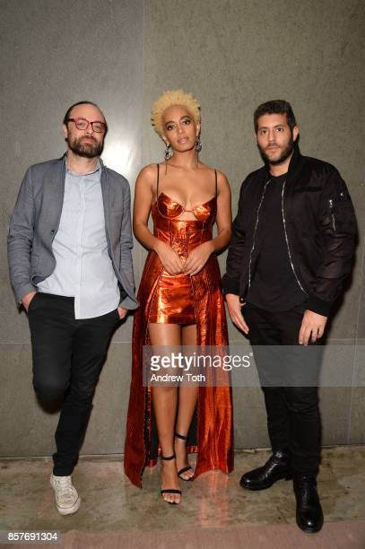 Travel Editor at Surface Magazine Nate Storey Solange Knowles and CEO of Surface Magazine Marc Lotenberg attend The 2017 Surface Travel Awards at...