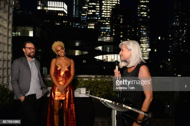 Travel Editor at Surface Magazine Nate Storey Solange Knowles and Travel Designer award winner Anda Andrei attend The 2017 Surface Travel Awards at...