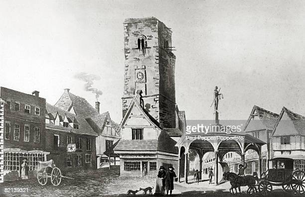 1787 The Market Cross and Conduit St Albans shown in this old illustration