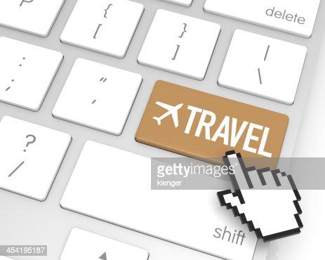 Viaje tecla Enter : Foto de stock
