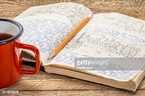 travel expedition journal : Stock Photo