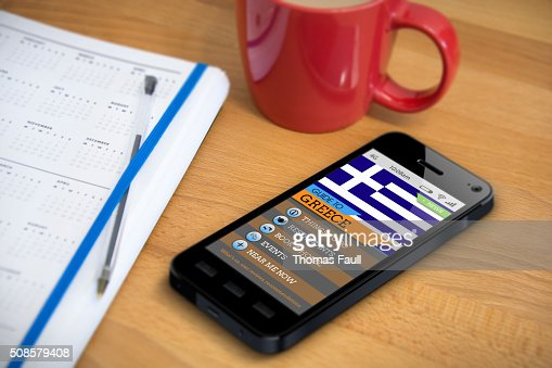 Travel Guide - Greece - Smartphone App : Stock Photo
