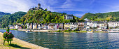 Pictorial medieval Cochem town - popullar touristic attraction in Germany