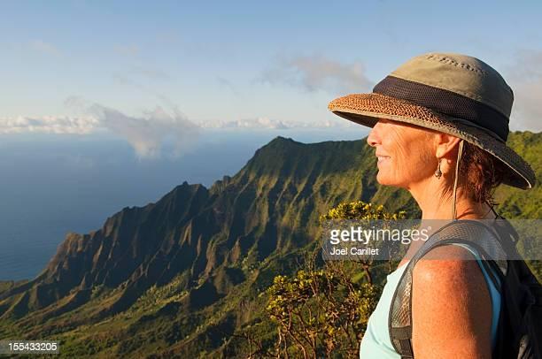 Reise-lifestyle und beeindruckende Landschaft