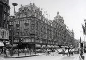 Travel London England The Harrods department store on Old Brompton Road