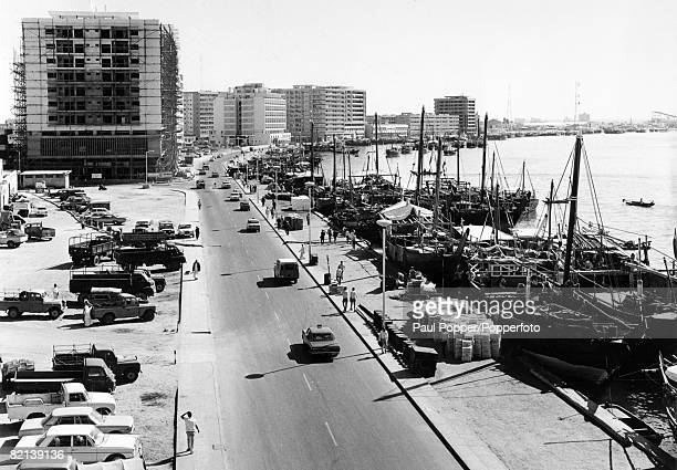 circa 1960's Dubai a general view showing the harbour
