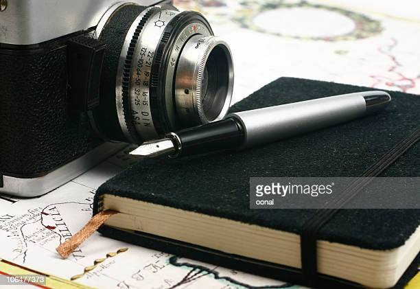 Travel notes and camera
