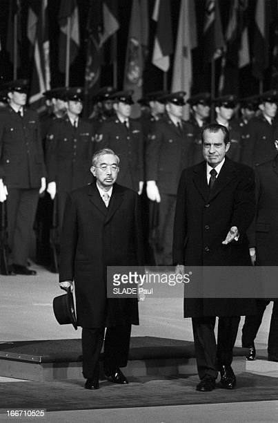Travel Of The Emperor Hirohito In Alaska Richard et Patricia Nixon Nagako
