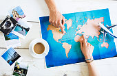 Travel planning on map