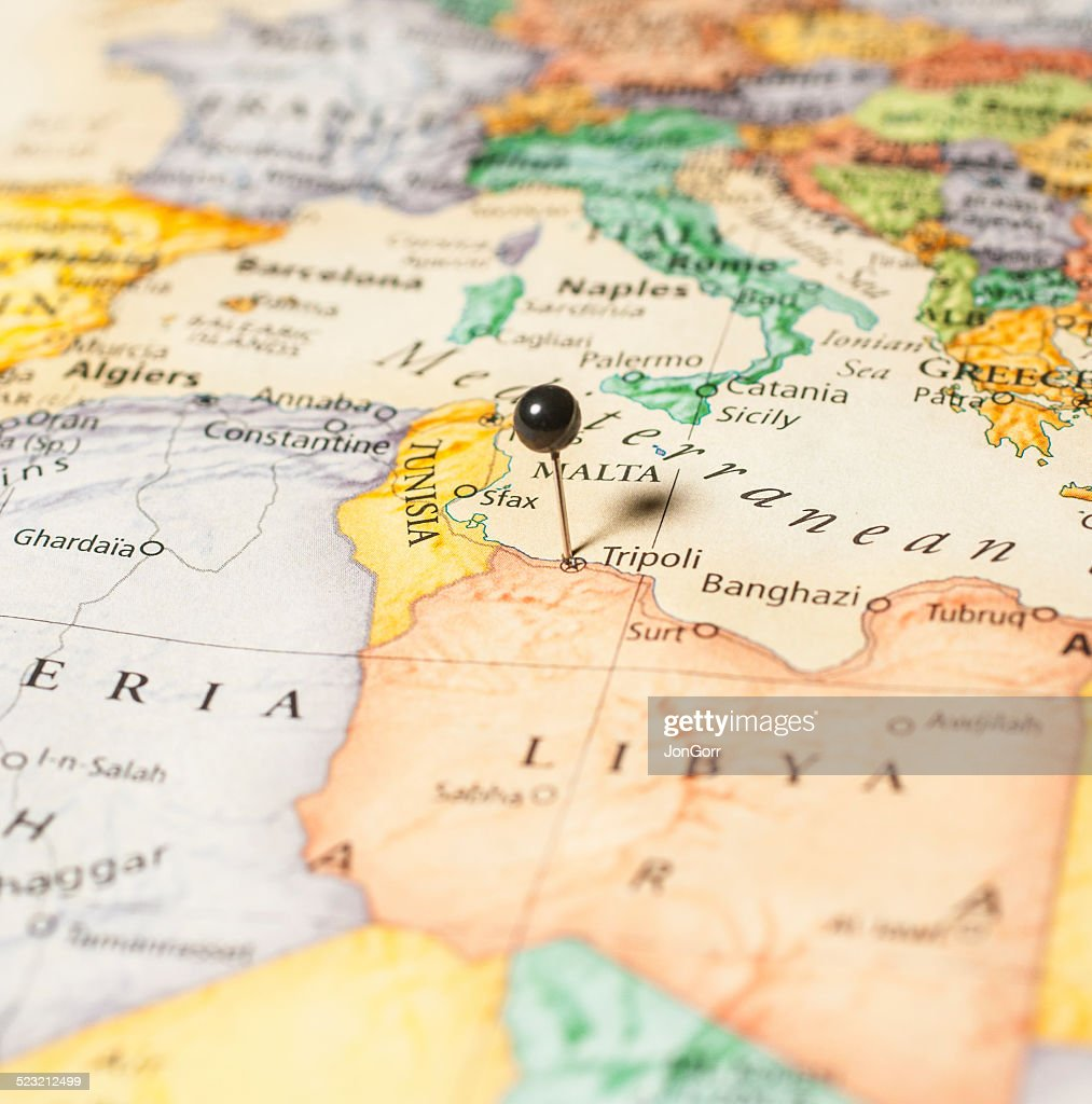 Travel Roadmap Macro Of Libya Greece Italy And Mediterranean Stock