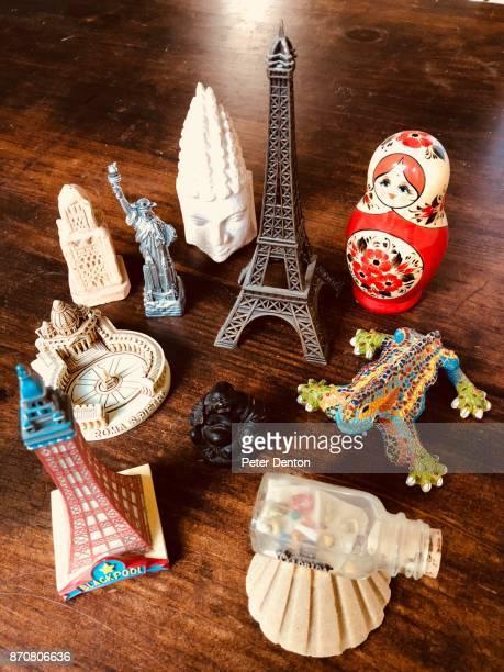 Travel souvenirs portrait