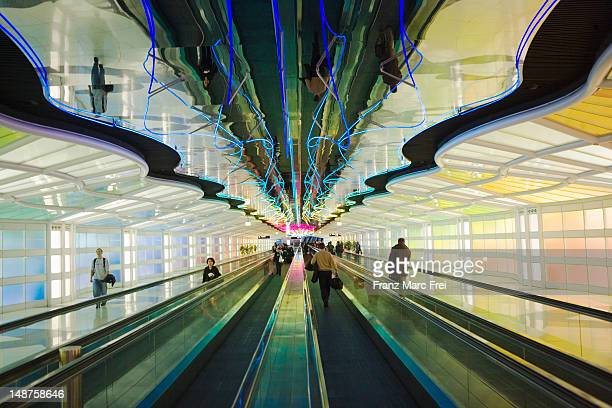 Travelator at O'Hare International Airport.