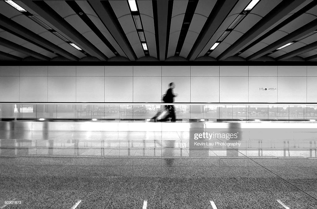 Traveler at Hong Kong Airport