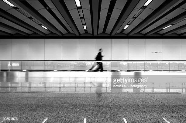 Traveler at Hong Kong Airport