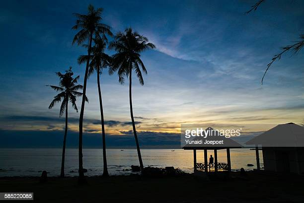 Traveler Enjoy Sunrise in Indonesia