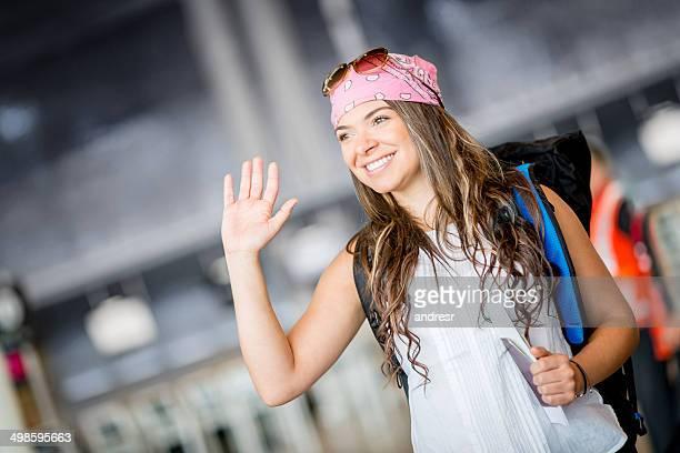 Traveler sagen Hallo