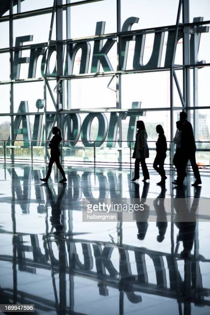 Travelers at Frankfurt Airport