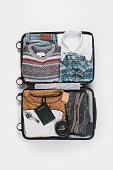 Traveler's bag ready to set off